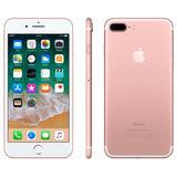 Usado - iPhone 7 Plus 128gb Rose Gold + Capa E Película!
