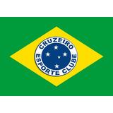 Bandeira Do Cruzeiro Rio Grande Do Sul + Bandeira Do Brasil