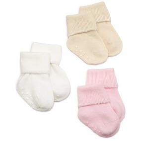 Jefferies Socks Organic Cotton Turn Cuff Sock, 3 Pack, Light