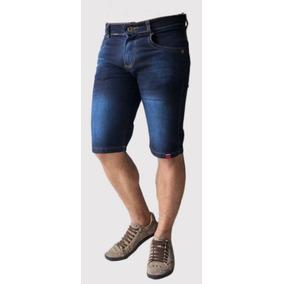Bermuda Shorts Jeans Sarja Colorido Oferta