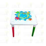 Mesa Infantil De Plástico Plegable Colores
