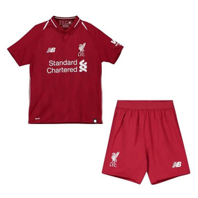 Uniforme Infantil Camisa Shorts Futebol Liverpool 2018 425f828528757