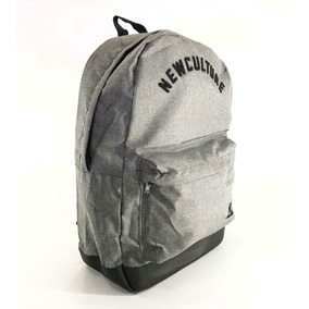 Mochila New Skate Illusion School Cinza Mescla - Original