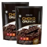 Kit 2x Choco Crunch Whey Protein Shake Probiótica Refil 555g