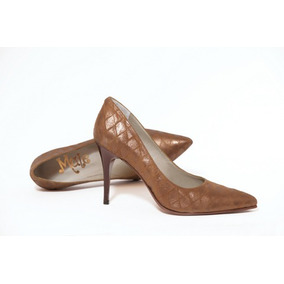 c08cd9bdb8a95 Zapatos Clasicos Mujer Con Plataforma - Zapatos Marrón en Mercado ...