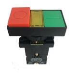 Botão Duplo Iluminado P20itl-y7-1c Led 24v Na+nf - Metaltex