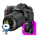 Nikon D7200 24.2mp Wifi G R A T I S Lente + Memoria + Maleta