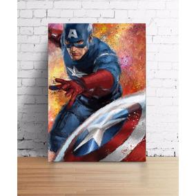 Placas Heróis Marvel Capitão America Hulk Flash Dc Batman
