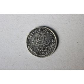 Moeda De 500 Réis De 1913 Em Prata