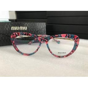 166ce4751ccd0 Armacao Feminina Acetato Miu Miu - Óculos no Mercado Livre Brasil