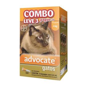 Antipulgas Bayer Advocate Combo Para Gatos Até 4kg 02/2020
