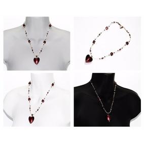 Collar De Piedra Murano Y Chaquira Cpn348