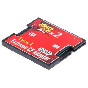 2 Sockets Micro Sd Adaptador Memoria Cf Compact Flash