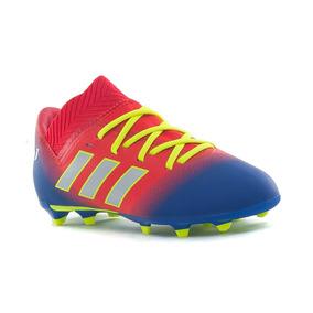 Botines Rojos Y Blancos Lionel Messi Sin Tapones - Botines Adidas ... 39da10dfa29c4