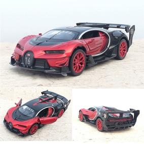 Bugatti Veyron Gt Miniatura De Metal Com Luzes E Som 15cm