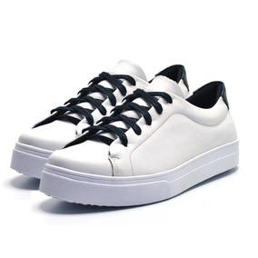 1d1521fe4bf Tênis Sapatênis Infantil Skate Sola Baixa Branco Com Preto