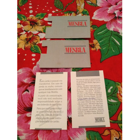 Cartão Antigo Das Lojas Mesbla