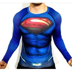 Superman Playera Dc Comics Superheroe Compresion Crossfit
