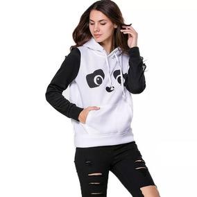 Blusa De Panda Capuz Feminino Com Pompom - Calçados 7ec0f5412aa