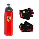 Kit Bottle + Luvas Ferrari Original