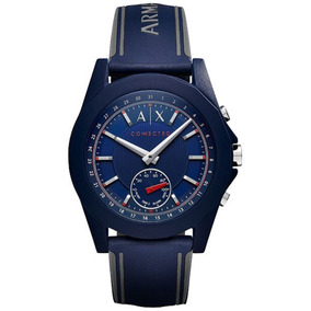 Ax Armani Exchange Axt1002 Connected Mens Blue Silicone Hyb