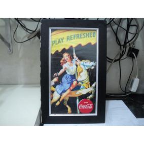 Quadro Antigo Retro Coca Cola