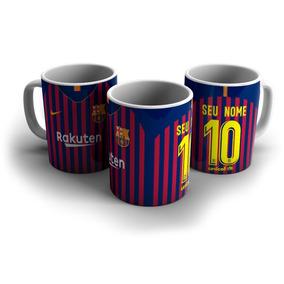 e7c9b6e3cc Caneca Do Barcelona Personalizada (nome E Número) Camisa 01 · R  28 90