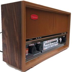 Rádio De Mesa De Madeira Com 3 Faixas Ótimo Presente Pais