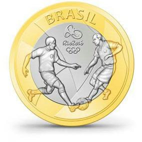 Moeda - Futebol - Olimpíadas Rio 2016 - Frete Grátis