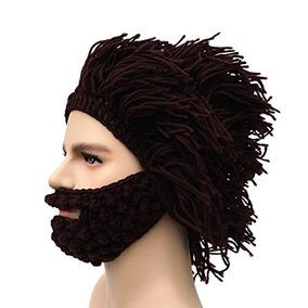 57c39be37e591 Sombrero De Barba De Punto Barbaro De Hombre Kafeimali Gorro