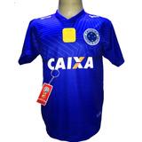 5b281602de Camisa Cruzeiro Azul Nova 2018 19 Bi Campeão Copa Brasil