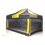 Tenda Sanfonada 3x4,5 +3 Laterais 3m Transp.+1lat.4,5normal