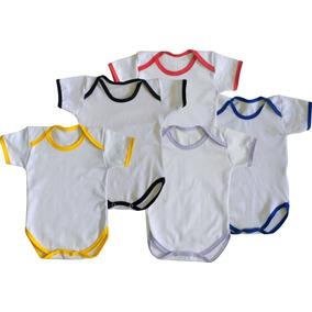 10 Body Para Bebê Sublimação Vies Colorido Ribana Poliester d3027cfa42ab