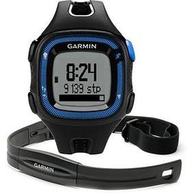Relógio Garmin Forerunner 15 Grande Cinta Cardíaca Azul