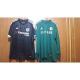 53c69498d9 Camisa Chelsea F.c 12 13 Verde   15 16 Preta - Originais