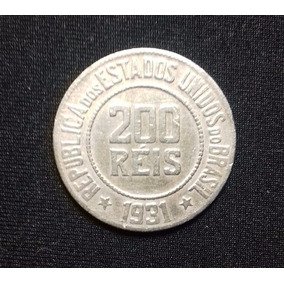 Moeda 200 Réis - 1918 A 1935 - Níqueis