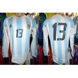 Argentina 2004 Camisa Titular Climacool Tamanho M #13.