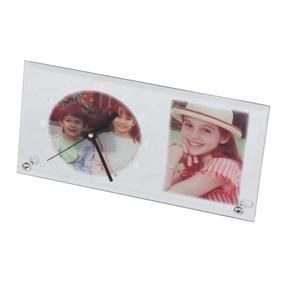 Espejo Con Reloj De Vidrio Para Sublimación 23x15x0,5cm
