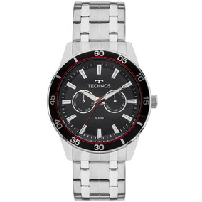 Relógio Technos Masculino 6p25bo/1p Multifunção Prateado