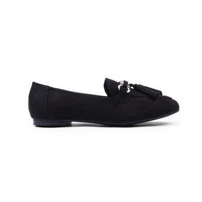 Flats Balerina Negro Dama Mujer Zapato Dorothy Gaynor