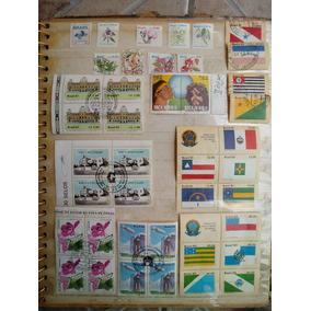 Conjunto 5 -selos Brasil Antigos