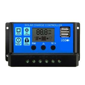 Controlador Solar 30a 12/24v Com Usb