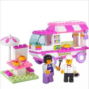 Food Truck Restaurante Carro Blocos De Montar Lego Comp