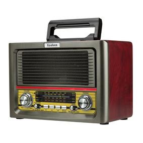 Radio Am Fm Bluetooth Retro Vintage Usb Bateria Controle Aux