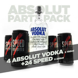 Pack 24 Latas Speed 250 + 4 Botellas Absolut Vodka De 750ml