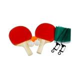 Kit Ping Pong Bj-pop Com Raquetes Bolinhas Rede E Suportes