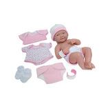 Rebon Muñeco Realista Bebe Recién Nacido Rosa Sonriente, 14