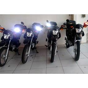 Kit Strobo Moto Vtr Profissional Giroflex 2 Bloco E Suportes