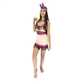 Roupa De Índia Pocahontas Pra Mulher Fantasia Carnaval P M G