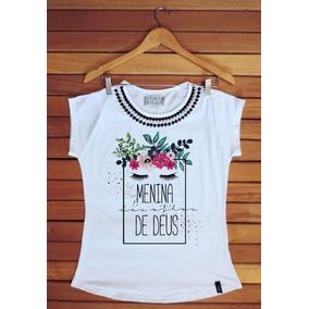 Camiseta Feminina Com Menina Dos Olhos De Deus Camisetas E Blusas